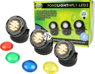 AQUA NOVA Pond Light NPL1-LED3 (NPL1-LED3) - Zestaw oświetlenia LED do oczka wodnego