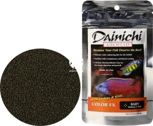 DAINICHI (Termin: 01.2022) Cichlid Color FX Sinking 100g baby (12601) - Pokarm dla pielęgnic wzbogacony w 7 składników wybarwiających najwyższej jakości