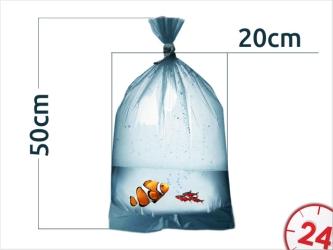 AQUAWILD Worki do transportu ryb 50sztuk - Profesjonalnie wykonane, gruba folia, zaokrąglone dno.