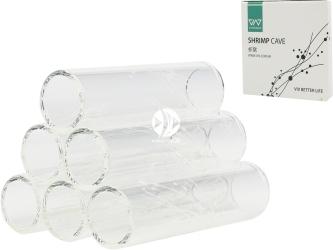 VIV Szklany domek dla krewetek (6 rurek) (120-02) - Dekoracyjna kryjówka umożliwiająca obserwację krewetek