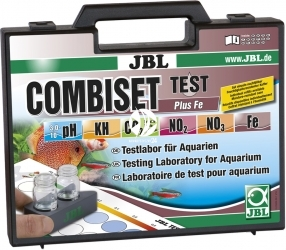 JBL Test Combi Set + Fe (25500) - Walizka do testowania pH, Kh, Fe, NO2, NO3