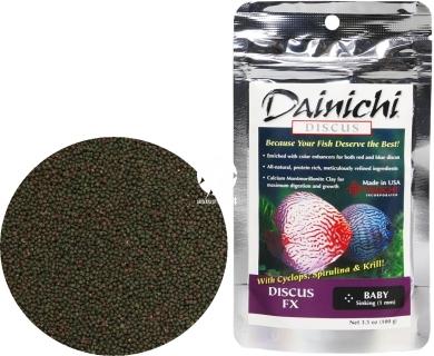 DAINICHI Discus FX (100g) Baby (14201) - Pokarm super premium dla dyskowców czerwonych i niebieskich