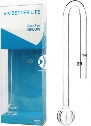 VIV Wlot szklany Peony 13mm (200-11) - Rurka szklana pasująca na węże 12/16mm