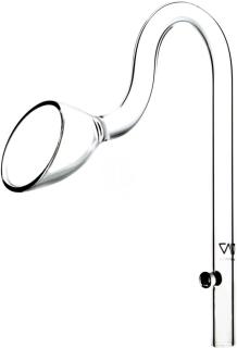 VIV Wylot szklany Lily Pipe 13mm (100-02) - Rurka szklana pasująca na węże 12/16mm