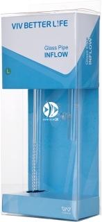 VIV Wlot szklany Lily Pipe 13mm (200-02) - Rurka szklana pasująca na węże 12/16mm