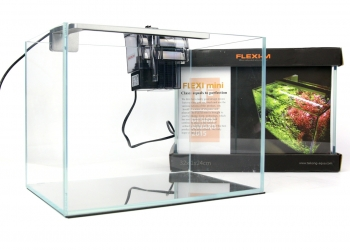 FLEXI mini Scape Set (FM74005) - Zestaw akwariowy z oświetleniem (srebrna lampka), filtrem kaskadowym i podkładką.