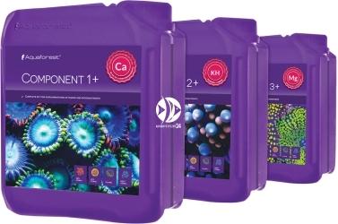 AQUAFOREST Component 1+ 2+ 3+ 3x5L - Kompletny zestaw mikro i makro elementów dla Metody Ballinga