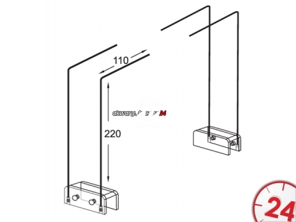 CHIHIROS Metalowe nóżki do oświetlenia Led Seria A (330-1102) - Umożliwiające zastosowanie oświetlenia w paludariach, akwaterariach