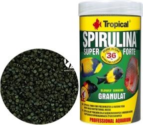 TROPICAL Spirulina Super Forte Granulat - Roślinny pokarm w postaci tonącego granulatu z wysoką zawartością spiruliny (36%)