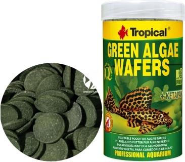 TROPICAL Green Algae Wafers - Roślinne, tonące wafelki ze spiruliną dla glonojadów