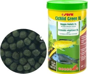 SERA Cichlid Green XL 1000ml (00213) - Pokarm roślinny ze spiruliną dla większych pielęgnic roślinożernych