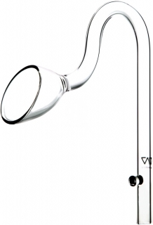VIV Wylot szklany Lily Pipe 17mm (100-05) - Rurka szklana pasująca na węże 16/22mm