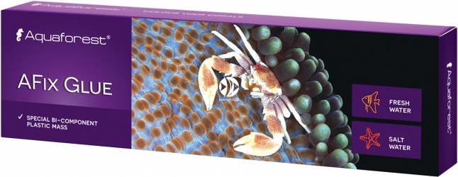 AQUAFOREST AFix Glue 110g - Plastyczna masa do łączenia małych kawałków skał oraz przytwierdzania koralowców twardych do skały