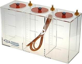 AQUA TREND Zbiornik na Płyny 3x1,5l (ATRS0008) - Zbiornik akrylowy przeznaczony do pobierania płynów dozowanych do akwarium