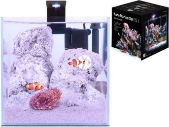 AQUALIGHTER Nano Marine Set 15l (7143) - Zestaw akwariowy ze szkła OPTI-WHITE z oświetleniem i filtrem