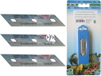 JBL Ostrza Zapasowe Handy (61523) - Komplet 5 sztuk ostrzy wymiennych ze stali szlachetnej do skrobaczki Aqua-T Handy.