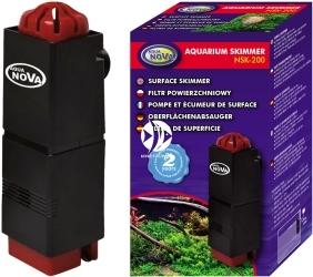 AQUA NOVA Aquarium Skimmer NSK-200 (NSK-200) - Filtr powierzchniowy do akwarium