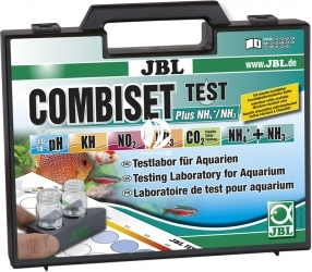 JBL Test Combi Set + NH4 (24090) - Walizka do testowania pH, Kh, NH4, NO2, NO3