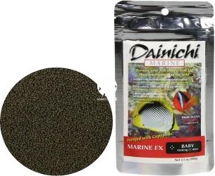 DAINICHI (Termin: 01.2022) Marine FX Baby 100g (15201) - Tonący pokarm wybarwiający Super Premium dla ryb morskich