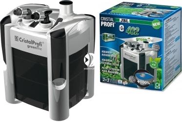JBL CristalProfi e402 Greenline  (60280) - Energooszczędny filtr zewnętrzny do akwarium