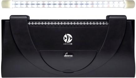 DIVERSA Pokrywa Aristo LED 80x35cm (1x17W) (117407) - Obudowa do akwarium z oświetleniem LED z tworzywa sztucznego
