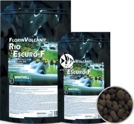 BRIGHTWELL AQUATICS FlorinVolcanit Rio Escuro-F (FVEF5) - Czarne, drobnoziarniste (ok. 3 mm) podłoże bazowe z wypalanego popiołu wulkanicznego.