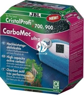 JBL CarboMec Ultra Pad e1500/e1501/e1901 (60168) - Zestaw z wkładem gąbkowym i węglem aktywnym do filtra akwariowego e1500/e1501/e1502/e1901/e1902.