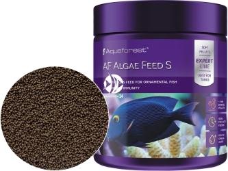 AQUAFOREST AF Algae Feed S 120g - Pokarm granulowany dla roślinożernych morskich ryb ozdobnych m. in. pokolców