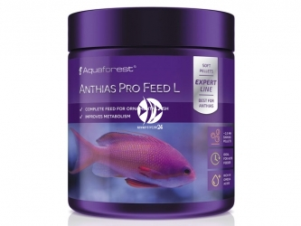 Aquaforest Anthias Pro Feed L 120g | Pokarm granulowany dla ryb ozdobnych, m.in. Anhiasów oraz innych ryb mięsożernych