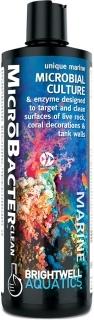BRIGHTWELL AQUATICS MicroBacter Clean (BACCL250) - Mikrobiologiczne kultury i enzymy do precyzyjnego czyszczenia powierzchni żywych skał i dekoracji