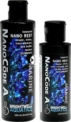 BRIGHTWELL AQUATICS NanoCode A (NCA125) - Zbilansowany suplement makroelementów, mikroelementów i pierwiastków śladowych wraz z buforem