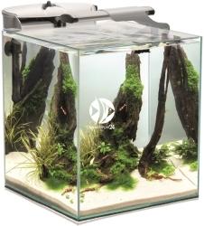 AQUAEL Shrimp Set Duo 35 Biały (115153) - Krewetkarium 49l z oświetleniem LED 6500K i 8000K, filtrem i grzałką