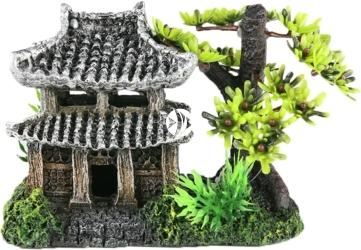 AQUA DELLA Asian House (234-411254) - Ręcznie malowany dom azjatycki do akwarium