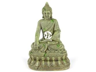 AQUA DELLA Bayon buddha 3 (234-429600) - Ręcznie malowany budda z bajon CIEMNY do akwarium [wymiary - 11x9x15,5cm]