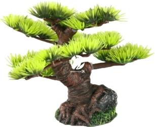 AQUA DELLA Bonsai Mini Sort B (234-420874) - Ręcznie malowane drzewo bonsai z igiełkami do akwarium 9,5cm