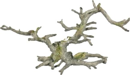 AQUA DELLA Bonsai Grey (without leaves) (234-424087) - Ręcznie malowany korzeń bonsai bez liści, szary (35,5x10x17,5cm)
