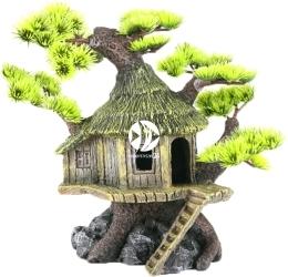 AQUA DELLA BonsaiHouse (234-184387) - Ręcznie malowany dom na drzewie Bonsai z igiełkami