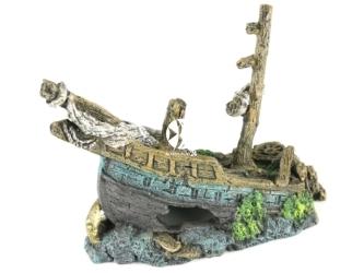 AQUA DELLA Galleon Wreck L (234-107843) - Ręcznie malowany wrak statku Galeon do akwarium