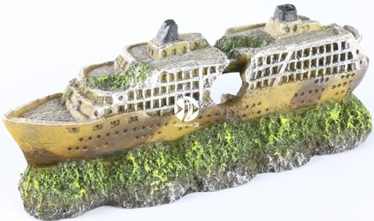 AQUA DELLA Mini Cruiser/Ship (234-406434) - Dekoracja ukazująca wrak statku, prom do akwarium