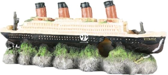 AQUA DELLA Shipwreck Titanic (234-237601) - Ręcznie malowany wrak statku Titanic do akwarium