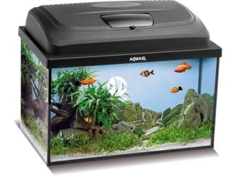 Aquael CLASSIC BOX SET 40 PROSTE (115106) | Zestaw akwariowy z oświetleniem LED, 41x25x25cm