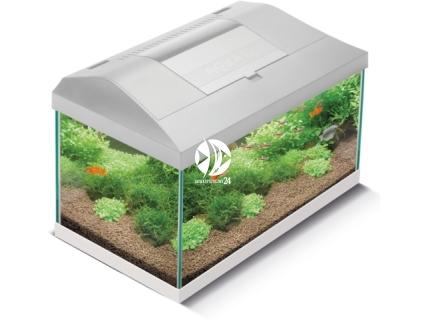 AQUAEL LEDDY SET 40 biały (114161) - Kompletny zestaw akwariowy z oświetleniem LED, filtrem i grzałką, 41x25x25cm
