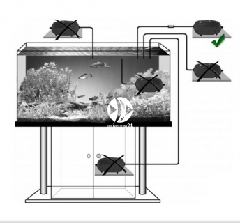 SERA Air 550 R Plus (08816) - Pompka membranowa do dużego akwarium lub małego oczka wodnego.