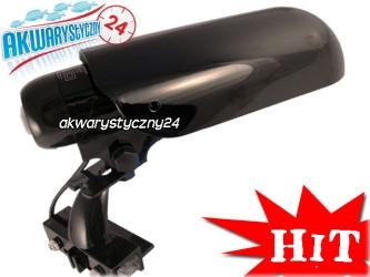 AQUATIC NATURE SOLAR DUO BOY 13W BLACK + 2x LED - Czarna estetyczna lampa do akwarium otwartego.