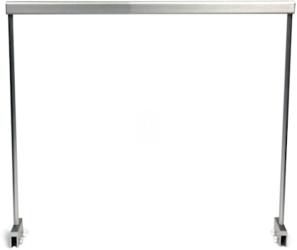 NuniQ Stelaż Aluminiowy 60HS (60HS) - Stelaż aluminiowy do podwieszenia lampy akwariowej, wymiary 604x20x347mm