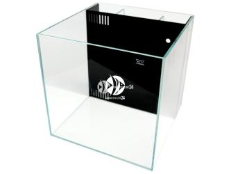 VIV Akwarium z panelem filtracyjnym 30x30x30cm [27l] (804-01) - Wysokiej jakości akwarium z super transparentnego szkła i przestrzenią na media filtra