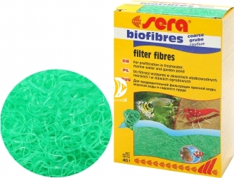 SERA BioFibres Coarse 40g (08452) - Wkład do filtracji wstępnej.