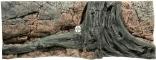 Back To Nature Amazonas (03000007) - Tło strukturalne z motywami drewna i skał do akwarium 130x50cm