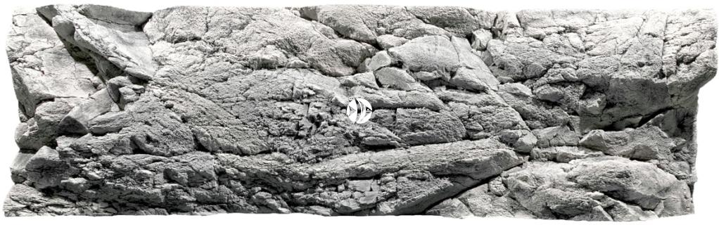 Back To Nature Malawi White (03000039) - Tło strukturalne z motywami skalnymi do akwarium