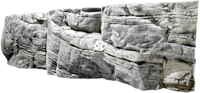 Back To Nature Tanganyika White (03000046) - Tło strukturalne z motywami skalnymi do akwarium